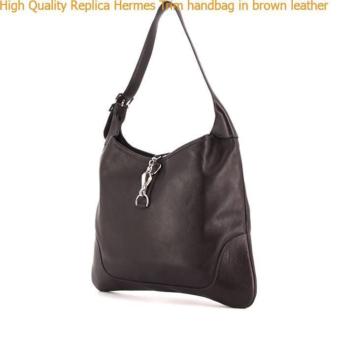 a8d7e53dea09 High Quality Replica Hermes Trim handbag in brown leather – Hermes ...