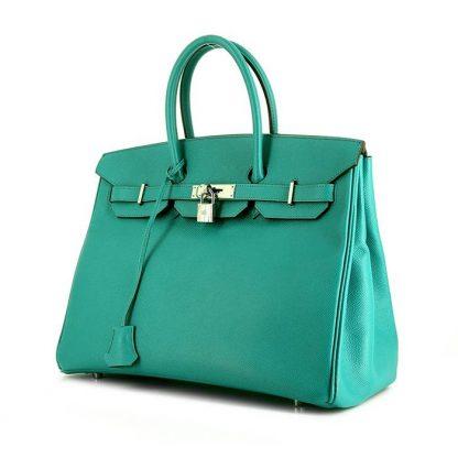 334f0478c2 Perfect Replica Hermes Birkin 35 cm handbag in blue Lagon epsom leather