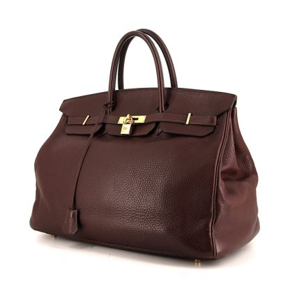 974a9b6f36 Perfect Replica Hermes Birkin 40 cm handbag in brown togo leather ...