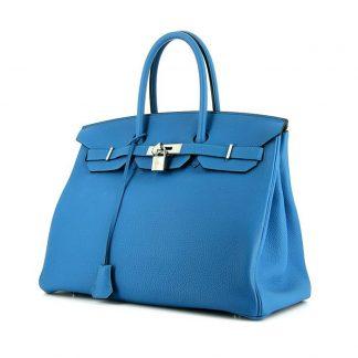 113aeaccd613 You re viewing  UK Replica Hermes Birkin 35 cm handbag in Zanzibar Blue togo  leather £15