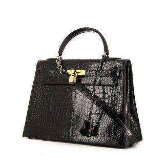 11fe4f715e74 You re viewing  UK Replica Hermes Kelly 32 cm handbag in black porosus  crocodile £19